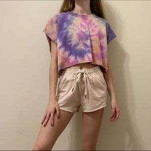 Hand dyed cropped sweat shirt